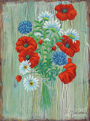 Les Coquelicots Print by Danielle Perry