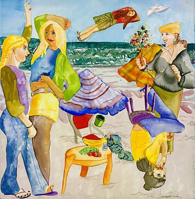 Les Demoiselles Of Santa Cruz V4 Original by Susan Cafarelli Burke