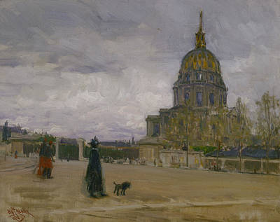 African-american Painting - Les Invalides, Paris by Henry Ossawa Tanner