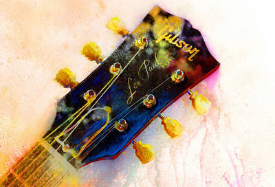 Guitar Painting - Les Is More by Andrew King
