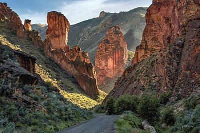Basalt Photograph - Leslie Gulch Road by Leland D Howard