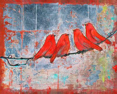 Let It Be, Four Birds  Print by Blenda Studio
