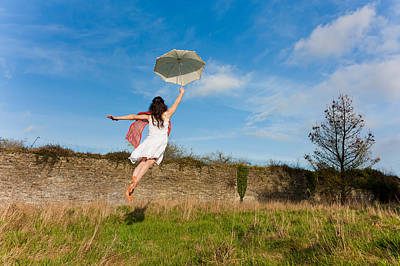 Floating Girl Photograph - Let The Breeze Guide You by Semmick Photo