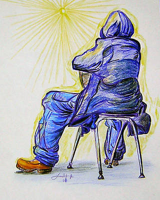 Figure Drawing - Let The Sunshine In by Lee Nixon