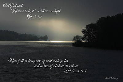 Let There Be Light Bible Art Scripture Art Print by Reid Callaway