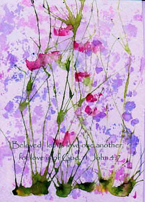 Encouragement Painting - Let Us Love One Another by Anne Duke