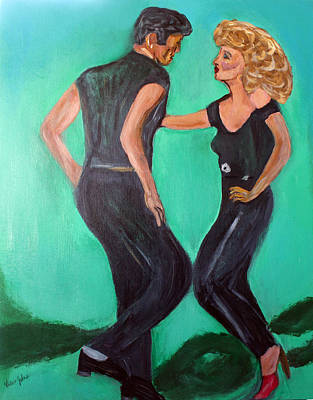 Olivia Painting - Let's Dance  by Victoria  Johns
