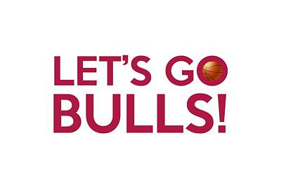 Basketball Painting - Let's Go Bulls by Florian Rodarte