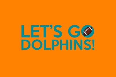 Miami Painting - Let's Go Dolphins by Florian Rodarte