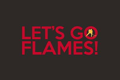Athletes Painting - Let's Go Flames by Florian Rodarte