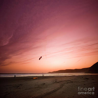 Lets Go Fly A Kite Print by Angel  Tarantella
