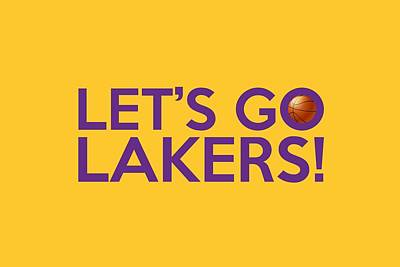 Los Angeles Painting - Let's Go Lakers by Florian Rodarte