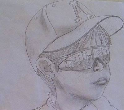 Softball Drawing - Let's Go Out To The Ballgame by Angela Sullivan