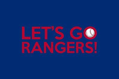 Baseball Painting - Let's Go Rangers by Florian Rodarte