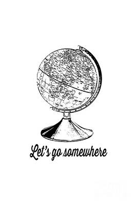 Let's Go Somewhere Tee Print by Edward Fielding
