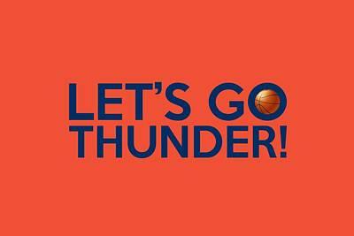 Nba Painting - Let's Go Thunder by Florian Rodarte
