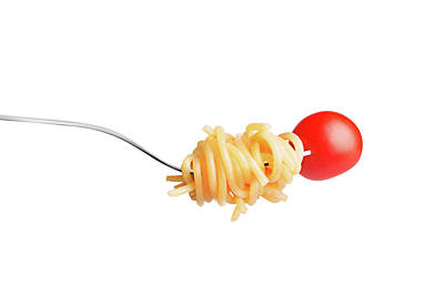 Let's Have A Pasta With Tomato Print by Vadim Goodwill