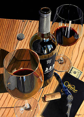 Virginia Wine Painting - Let's Rendezvous by Brien Cole