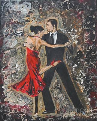 Dance Floor Painting - Lets Tango by Jasmine Tolmajian
