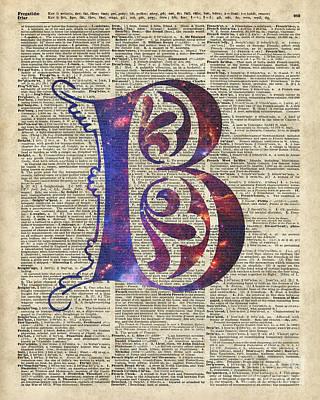 R.i.p Mixed Media - Letter B Monogram by Jacob Kuch