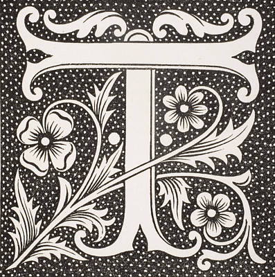 Letter T Print by French School
