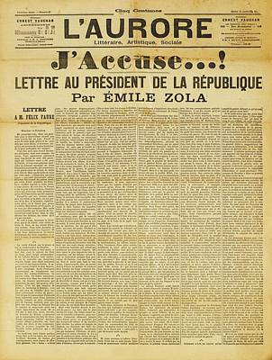 Letter To The President Print by Emile
