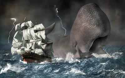 Monster Digital Art - Leviathan by Daniel Eskridge