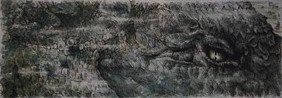 Crocodile Drawing - Leviathan by Rachel Christine Nowicki