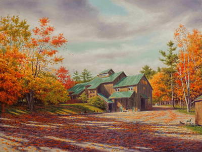 Leaves Painting - Levon Helm Studios Legendary Ramble Barn by Barry DeBaun