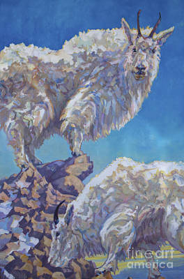 Mountain Goat Painting - Lewis An Clark by Patricia A Griffin