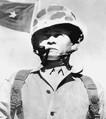 Lewis Chesty Puller Print by War Is Hell Store