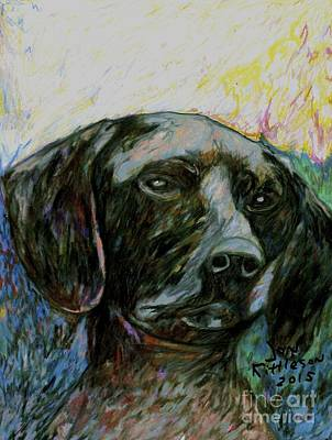 Drawing - Lexi The Dog by Jon Kittleson