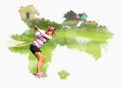 Decoupage Digital Art - Lexi Thompson by Don Kuing