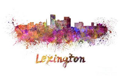 Kentucky Painting - Lexington Skyline In Watercolor by Pablo Romero