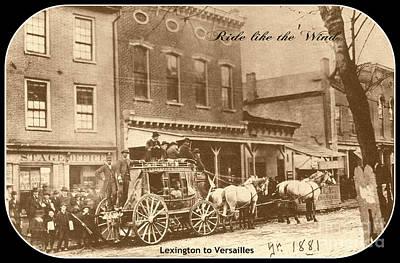 Lexington Drawing - Lexington To Versailles by David Neace
