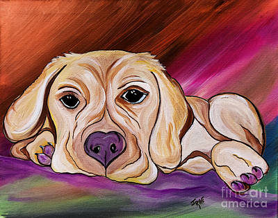Puppy Mixed Media - Liam My Golden Friend    by Janice Rae Pariza