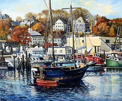 Lianas Ransom In Gloucester Harbor Original by Eileen Patten Oliver