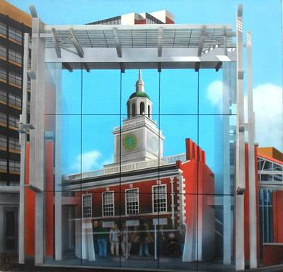 Independence Hall Painting - Liberty Bell Pavillion by Brett Sauce