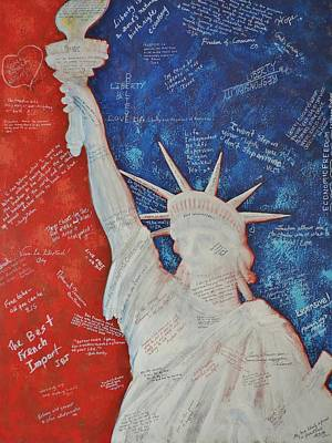 Patriotism Painting - Liberty Is... by Margaret Bobb