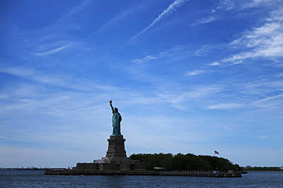 Liberty Island Digital Art - Liberty Island Statue Of Liberty by Toby McGuire