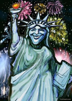 Liberty Painting - Liberty by Kevin Middleton