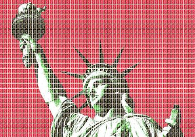 Liberty - Red Original by Gary Hogben