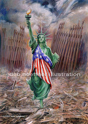 2001. World Trade Center Painting - Liberty Rising by Deb Hoeffner