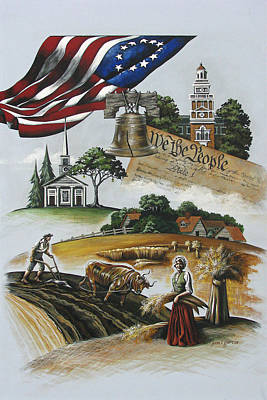 Liberty Rising Original by Joan Garcia