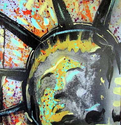 Icon Mixed Media - Liberty by Robert Wolverton Jr