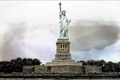 Liberty Island Digital Art - Liberty by Susan Stone