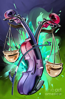 Violin Mixed Media - Libra by Melanie D