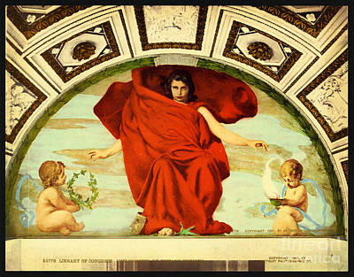 Library Painting - Library Of Congress Melpomene by Celestial Images