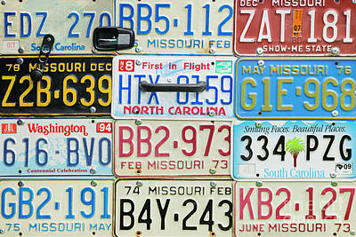 License Plates Print by Tim Gainey