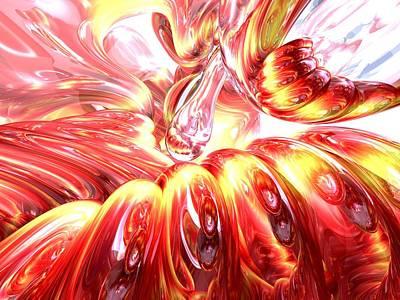 Licorice Digital Art - Licorice Euphoria Abstract by Alexander Butler